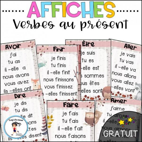Affiches de verbes - GRATUIT