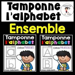 ENSEMBLE - Tamponne les lettres de l'alphabet