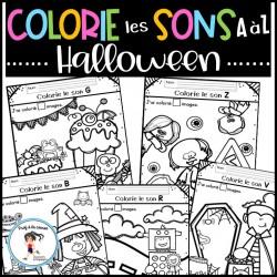 Halloween - Colorie les sons A à Z