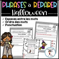 Phrases à réparer - Halloween
