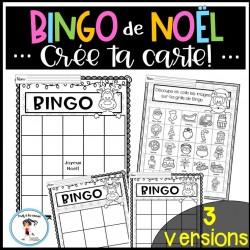 Bingo de Noël - Crée ta carte!