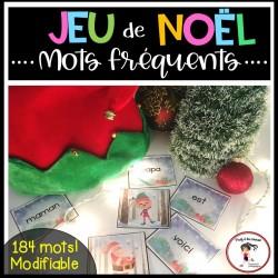 Jeu de Noël modifiable - Mots fréquents