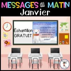 Messages du matin -Janvier Échantillon GRATUIT