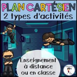 Plan cartésien- Enseignement en ligne ou en classe