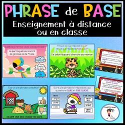 Diaporama/ jeu interactif Phrase de base