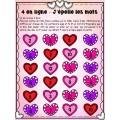 Jeu modifiable 4 en ligne Saint-Valentin