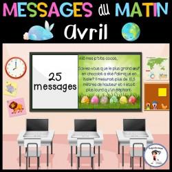 Messages du matin - Avril/Pâques Jour de la Terre