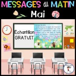 Messages du matin - Mai Échantillon GRATUIT