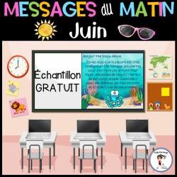 Messages du matin - Juin |Échantillon GRATUIT