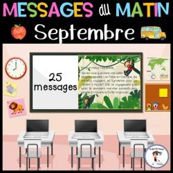 Messages du matin - Septembre | La rentrée