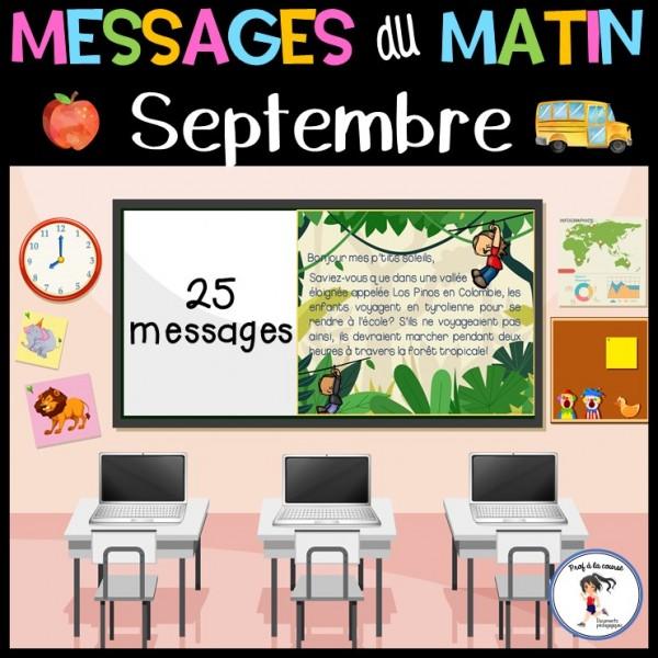 Messages du matin - Septembre   La rentrée