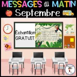 Messages du matin -Septembre |La rentrée GRATUIT