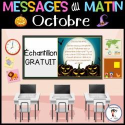 Messages du matin -Octobre Halloween - GRATUIT