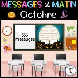 Messages / lecture du matin - Octobre  Halloween