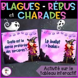 Halloween - charades-devinettes-blagues-rébus