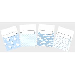 Couvertures cartables (Thème : Bleu bébé)