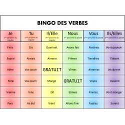 Bingo des verbes - 3e cycle