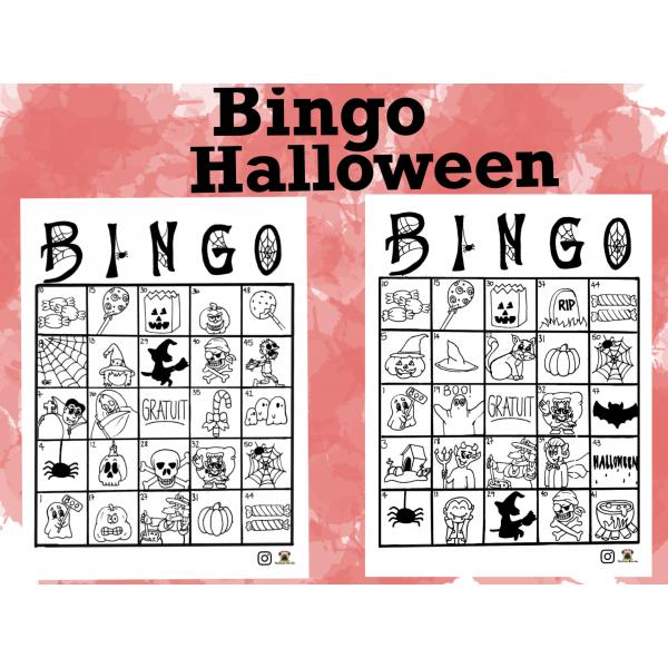 Bingo Halloween à colorier