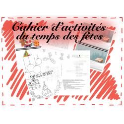 Cahier d'activités du temps des fêtes