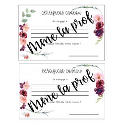 Certificat cadeau- Fête des mères
