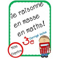 Je raisonne en masse en maths! - 3e année