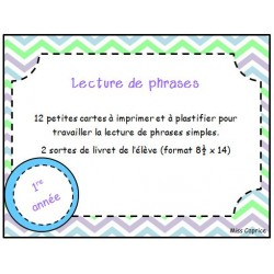 Lecture de phrases - 1re année