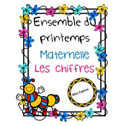 Les chiffres (complet) - Printemps - Maternelle