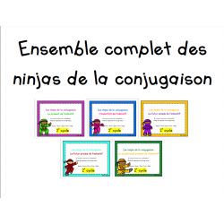 Ensemble ninjas de la conjugaison - 2e cycle