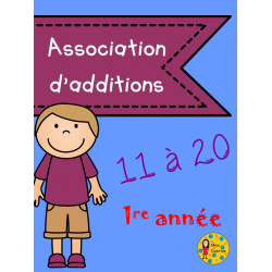 Association d'additions 11 à 20 - 1re année