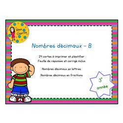 Nombres décimaux - B - 3e année