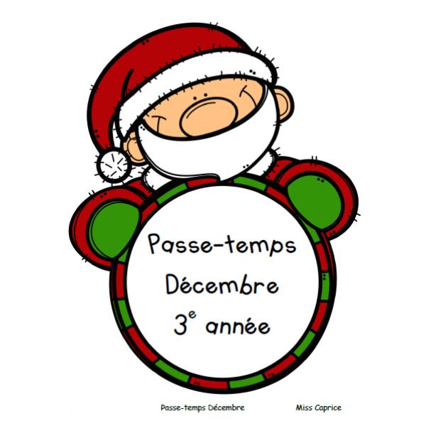 Passe-temps Noël - 3e année