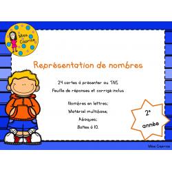 Représentation de nombres - 2e année