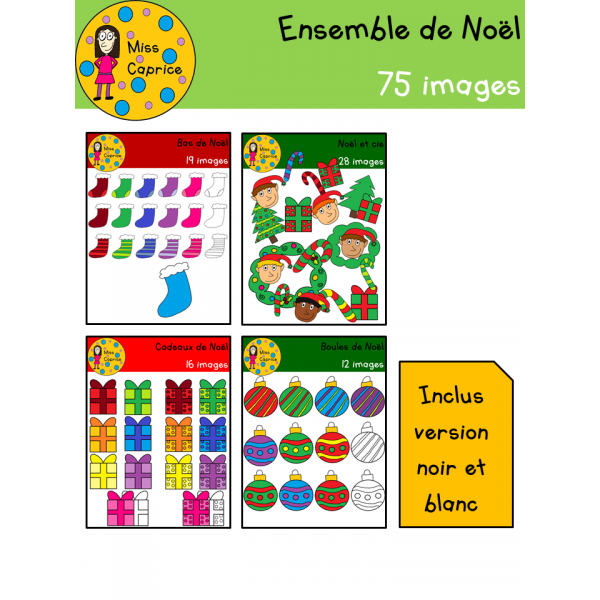 Ensemble de clip arts de Noël