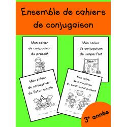 Ensemble de cahiers de conjugaison - 3e année