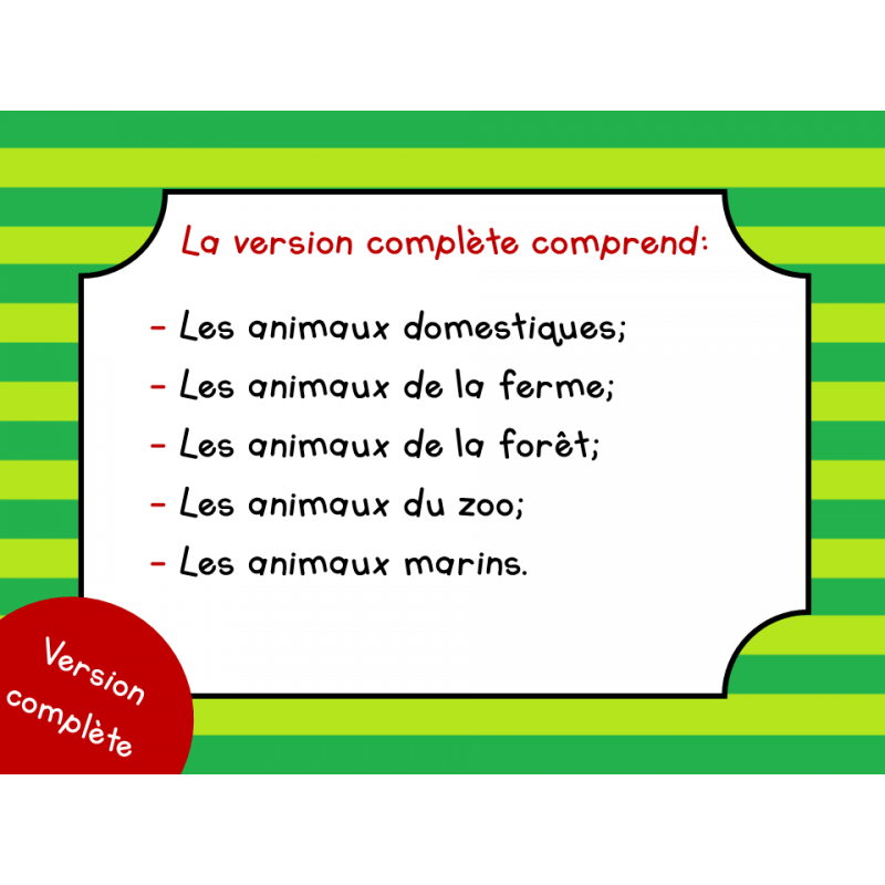 Populaire Les animaux - 1er cycle SP81