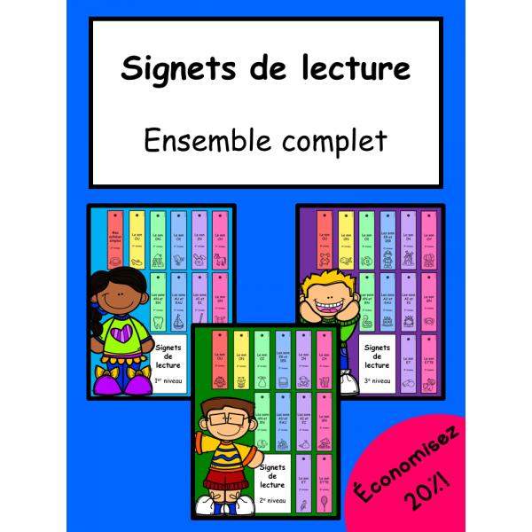 Signets de lecture - Ensemble complet
