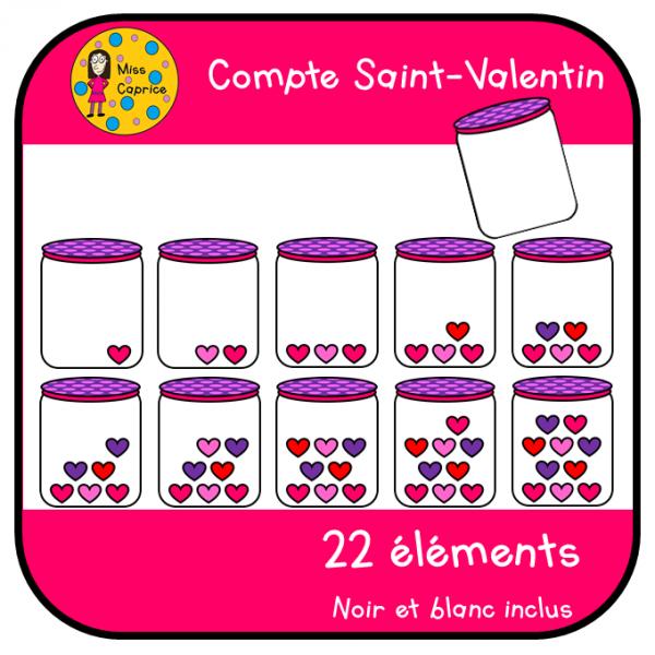 Compte Saint-Valentin - Cliparts