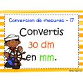 La conversion de mesures - 3e année