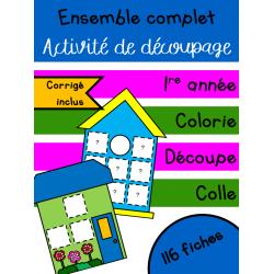Ensemble complet maisons et cabanes - 1re année