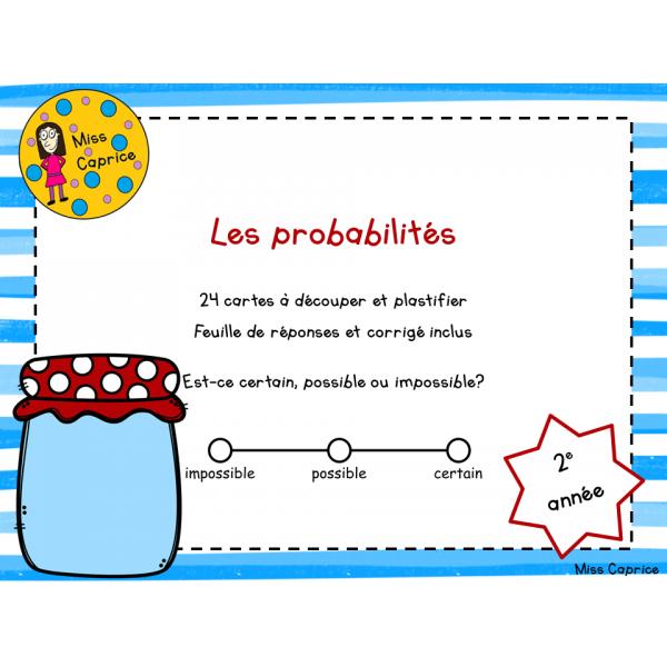 Les probabilités - 2e année