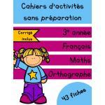 Cahiers de juin - 3e année