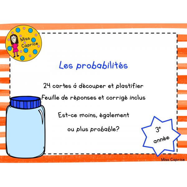Les probabilités - 3e année
