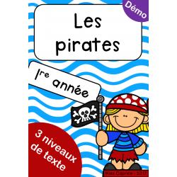 Les pirates - 1re année
