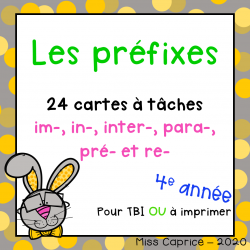 Les préfixes - 4e année