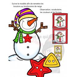 Le bonhomme de neige a perdu ses boutons