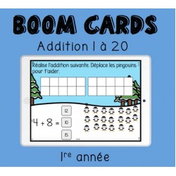 Boom Cards additions 1-20 (1re année)