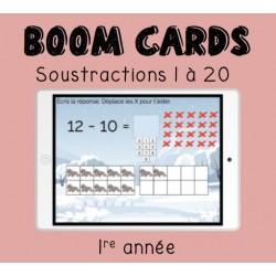 Boom Cards soustraction 1 à 20 (1re année)