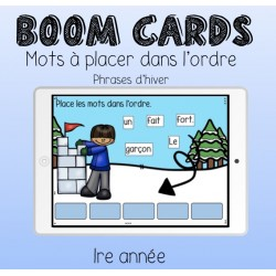 Boom Cards - Phrase d'hiver en désordre