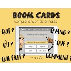 Boom Cards - Compréhension de phrases