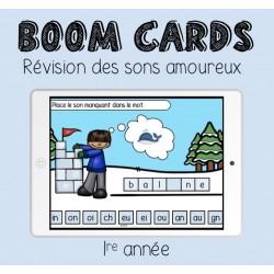 Boom Cards - Révision sons amoureux